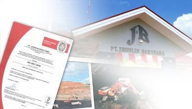 Certified ISO 9001:2008 PT. Jhonlin Baratama