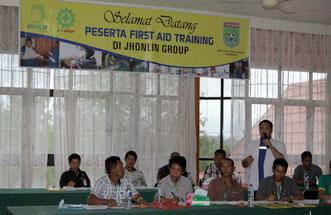 Pelatihan First Aid, Jhonlin Group, Kalimantan Selatan, batulicin, H Isam, h-isam