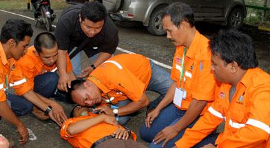 Jhonlin Group, PT. Dua Samudera Perkasa, first aid, Kalimantan Selatan, Batulicin, H Isam, h-isam