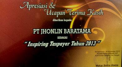 Jhonlin Group, PT. Jhonlin Baratama, Inspiring Taxpayer, Kalimantan Selatan, Batulicin, h isam