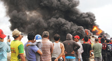 Jhonlin Group, SHE, FRT, Penanganan kebakaran, Kalimantan Selatan, Tanah Bumbu, Batulicin, h isama