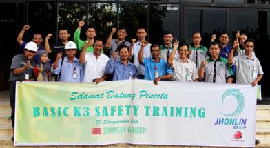 Jhonlin Gorup, SHE Jhonlin Group, Basic K3, Kalimantan Selatan, Batulicin, h isam