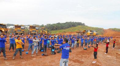Jhonlin Group, Senam Sehat, PT. Jhonlin Baratama, Kalimantan selatan, Tanah bumbu, Batulicin, h isam