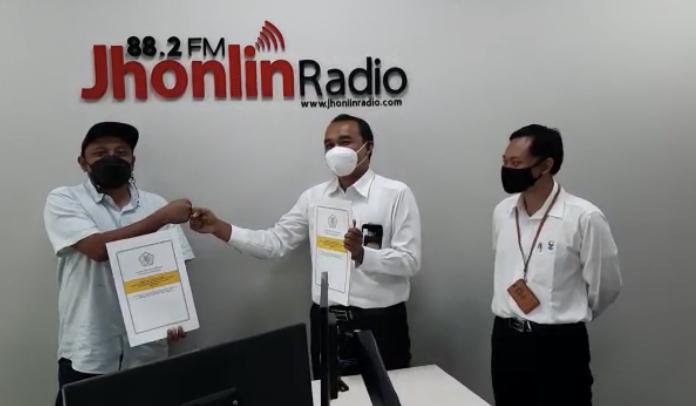 Jhonlin Radio Bekerjasama Dengan KPP Pratama Batulicin Wujudkan Wilayah Bebas Korupsi